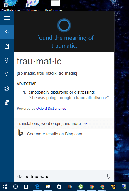 Cortana - expanded definition