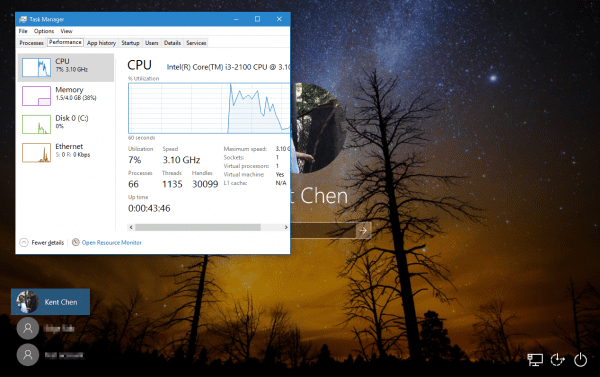 Task Manage on Windows 10 Login Screen