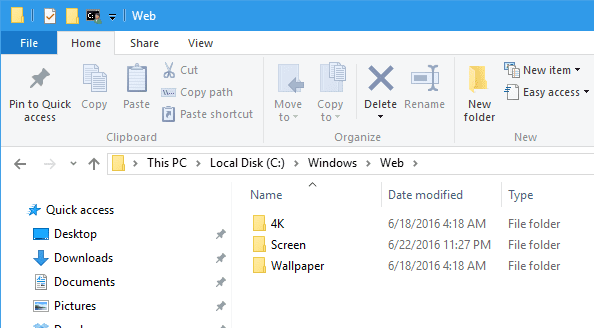 Windows 10 Wallpaper location