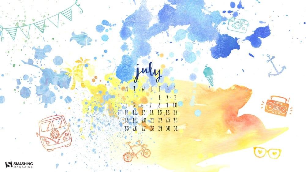 Calendar Theme Wallpaper : Download smashing magazine desktop wallpaper calendar july