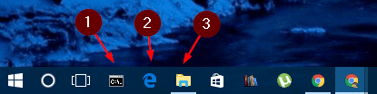Windows 10 - taskbar number
