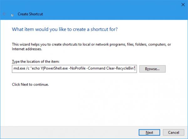 create-shortcut-empty-recycle-bin