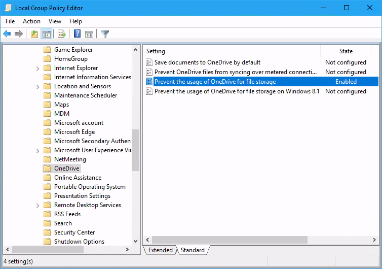 windows 10 group policy