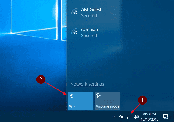 how to directly connect to a wifi in windows 10