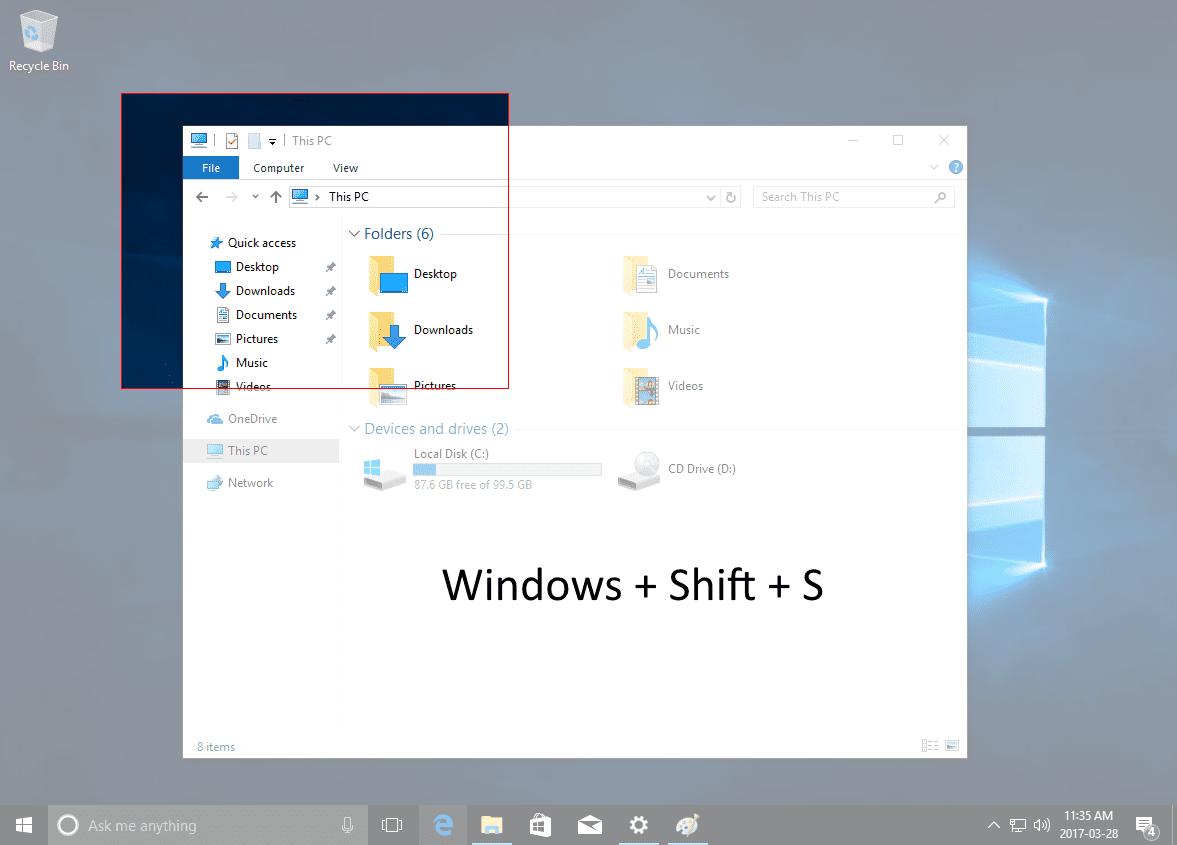 Windows Shift S New Way To Take Screenshots Windows 10 Creators Update Nextofwindows Com