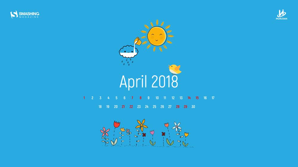 Download Smashing Magazine Desktop Wallpaper April 2018