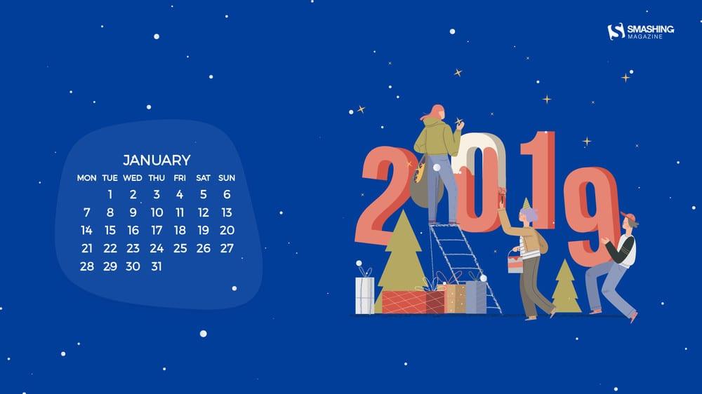 Download Smashing Magazine Desktop Wallpaper January 2019 Windows