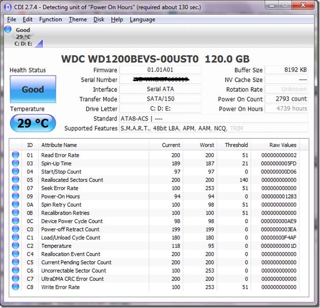 HDD 120 GB